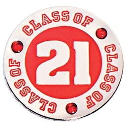 Class of 2021 Award Pin - Red Rhinestones