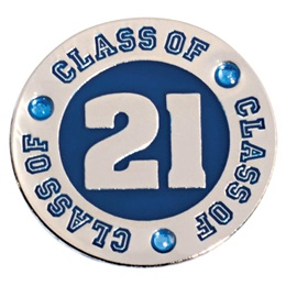 Class of 2021 Lapel Pin - Blue Rhinestones