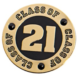 Class of 2021 Award Pin - Black Rhinestones