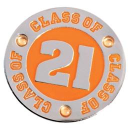 Class of 2021 Award Pin - Orange Rhinestones