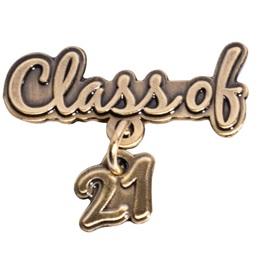 Class of 2021 Metallic Dangler Pin