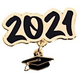 Grad Cap Dangler Award Pin - Class of 2021