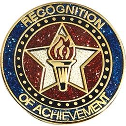 Glitter Award Pin - Recognition of Achievement