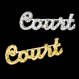 Glitter Court Pin