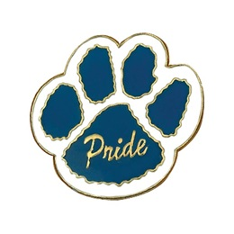 Pride Paw Pin – Blue/White