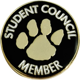 Student Council Member Award Pin – Paw