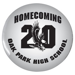 "Homecoming 20/Eagle 2 1/4"" Button"