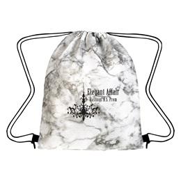 Marbled Drawstring Bag