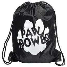 Paw Power Backpack - Black/White