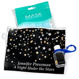 Full-color Travel Pouch With Mask and Hand Sanitizer - Starry Sky