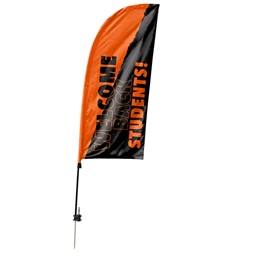 Custom Single-sided Blade Sail Flag Kit - Welcome Back