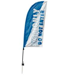 Custom Single-sided Blade Sail Flag Kit - Exit Only