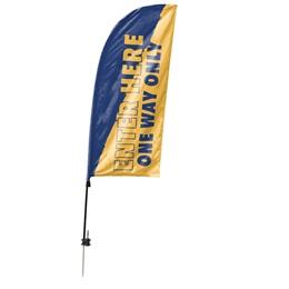 Custom Single-sided Blade Sail Flag Kit - Enter Here