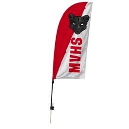 Custom Single-sided Blade Sail Flag Kit - School Mascot