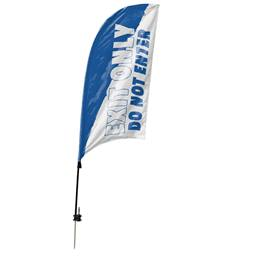 Custom Single-sided Razor Sail Flag Kit - Exit Only
