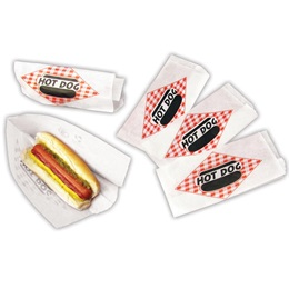 Hot Dog Double Open Paper Bag-Case of 1,000