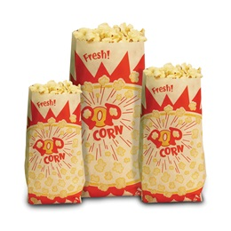 Paper Popcorn Bags-Large 2oz