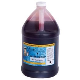 Sno Cone Syrup Red Raspberry Gallon