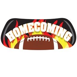 Flaming Football Homecoming EyeBlacks