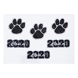 Glitter Body Decals - Class of 2020 Paw