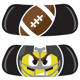 EyeBlack Set - Football Emoji