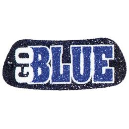 Go Blue Glitter EyeBlacks, 2 pairs/pkg
