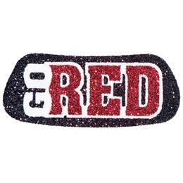 Go Red Glitter EyeBlacks, 2 pairs/pkg