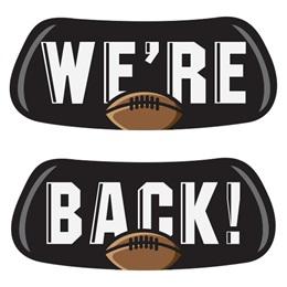 We're Back Football EyeBlacks