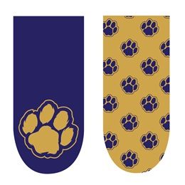 Spirit Nails - Blue and Gold Paws