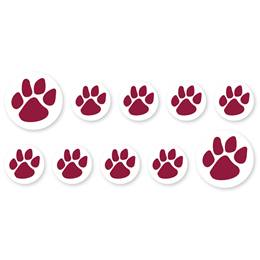 Mini Paw Decals - Maroon