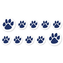 Mini Paw Decals - Navy
