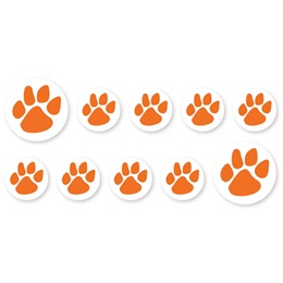 Mini Paw Decals - Orange