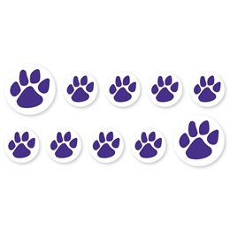 Mini Paw Decals - Purple
