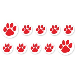 Mini Paw Decals - Red