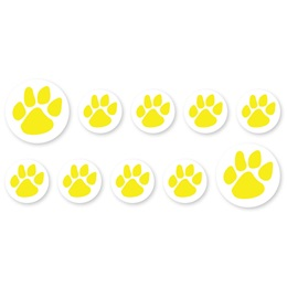 Mini Paw Decals - Yellow