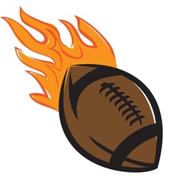 Football Flames Temporary Tattoos