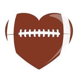 Heart-shaped Football Temporary Tattoos