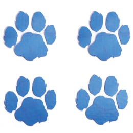 Blue Paw Metallic Temporary Tattoos