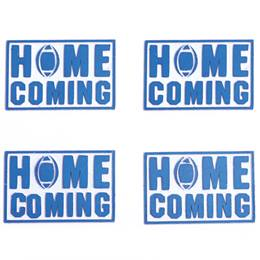 Blue Homecoming Metallic Temporary Tattoos
