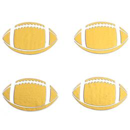 Gold Football Metallic Temporary Tattoos