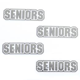 Silver Seniors Metallic Temporary Tattoos