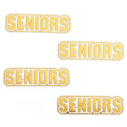 Gold Seniors Metallic Temporary Tattoos
