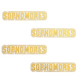 Gold Sophomores Metallic Temporary Tattoos