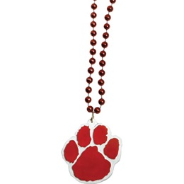 Paw Medallion with Red  Beads