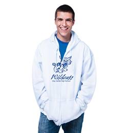 1-color Custom Zip-up Fleece Hoodie