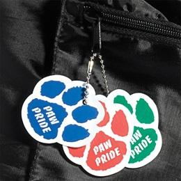 Custom Full Color Paw Dog Tag - Laminated
