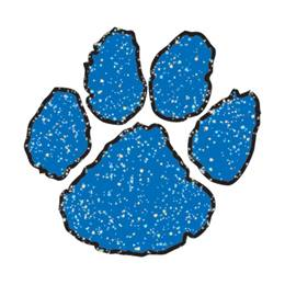 Paw Temporary Tattoo - Blue Glitter