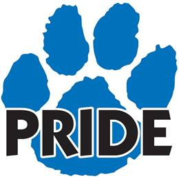 Pride Paw Temporary Tattoo - Blue