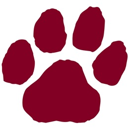 Maroon Paw Print Accents