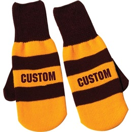 Knitted 2-Tone Mittens